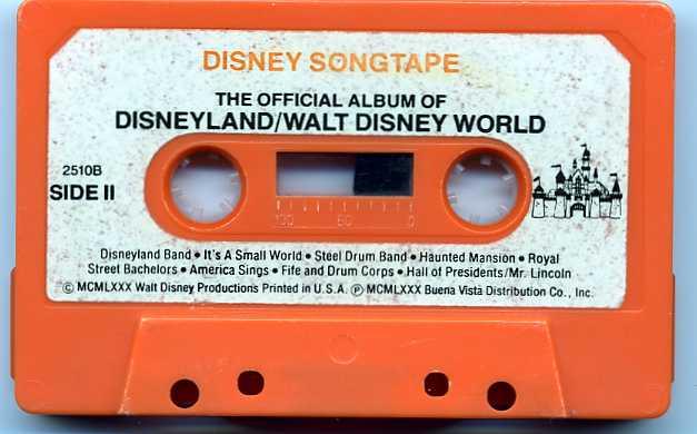 Disneysongtapedisneylandcassettelabel410